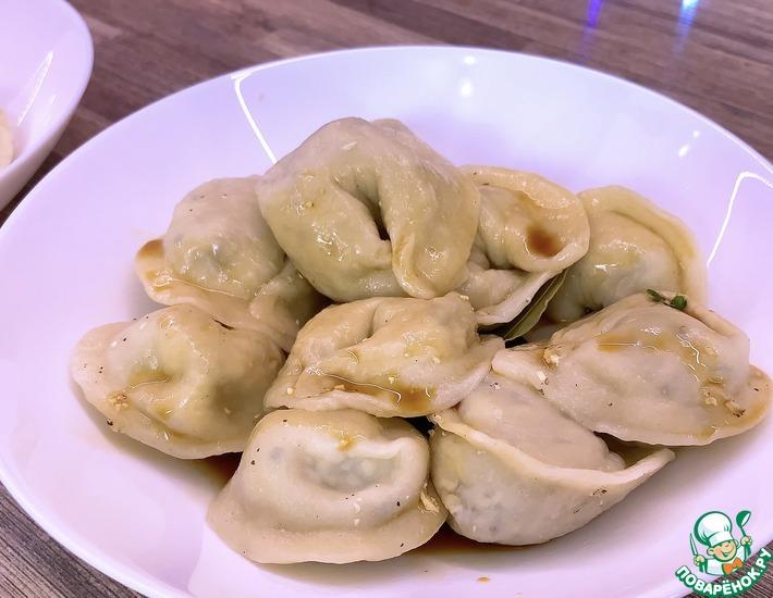 Рецепт: Постные пельмени с тофу и шпинатом