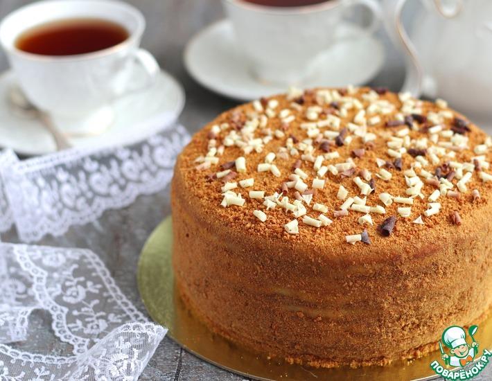 Рецепт: Торт Медовый пушистый