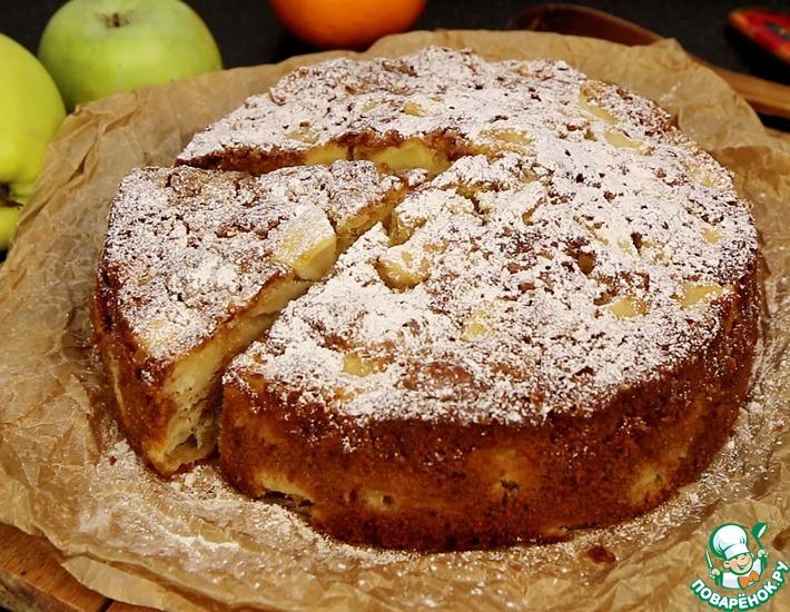 Рецепт: Необычная шарлотка с яблоками
