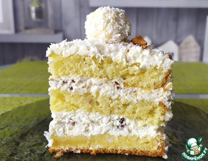 Рецепт: Невероятно нежный торт Рафаэлло