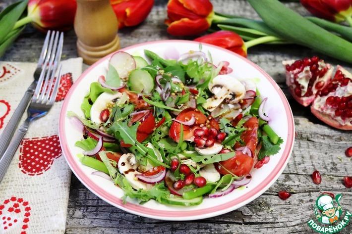 Большой весенний салат