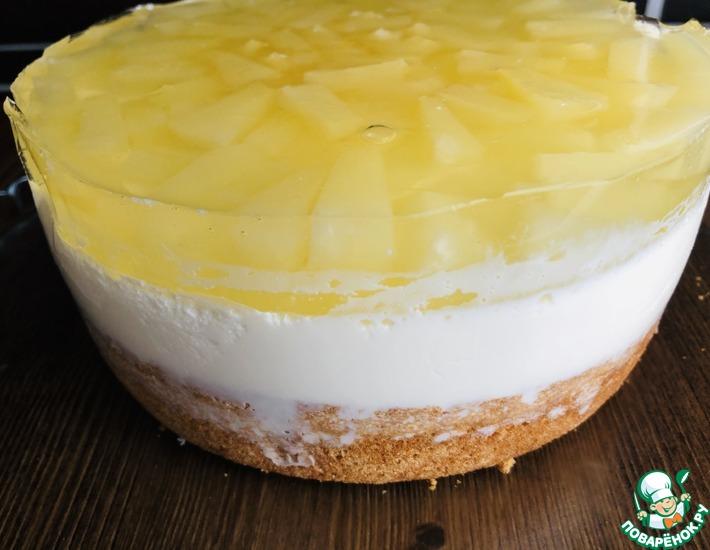 Рецепт: Муссовый торт Ананас