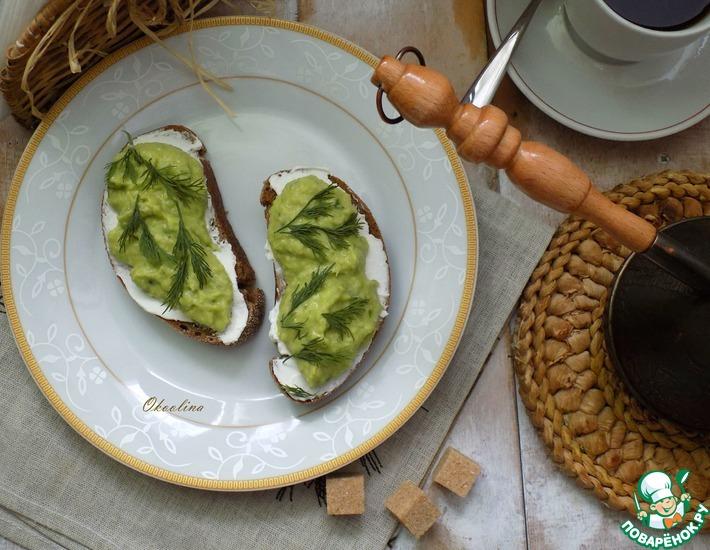 Рецепт: Дип из авокадо и сельдерея
