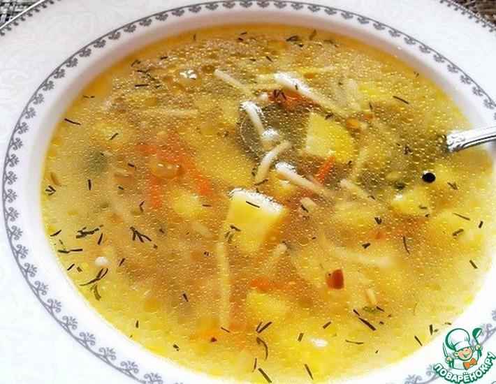 Рецепт: Куриный суп с вермишелью
