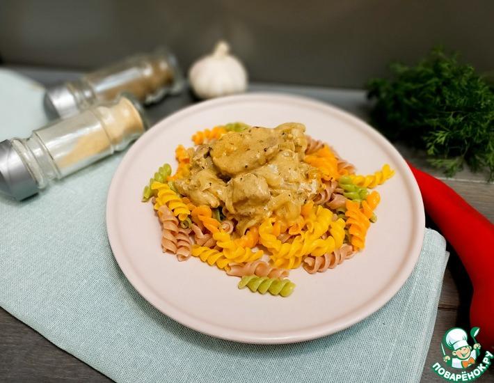 Рецепт: Свинина в горчично-сливочном соусе