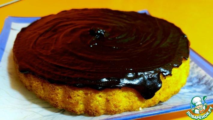 Морковный пирог с шоколадной глазурью. Самый простой рецепт