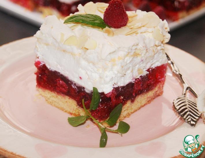 Рецепт: Пирожное Малиновое облако
