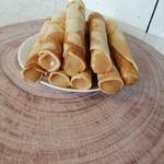 Вафельные трубочки на сковороде
