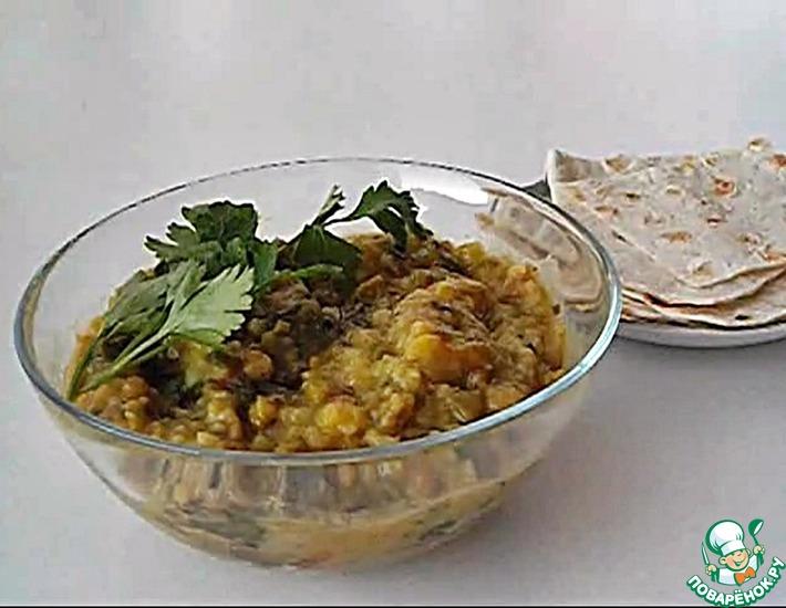 Рецепт: Кичари с сельдереем и шпинатом