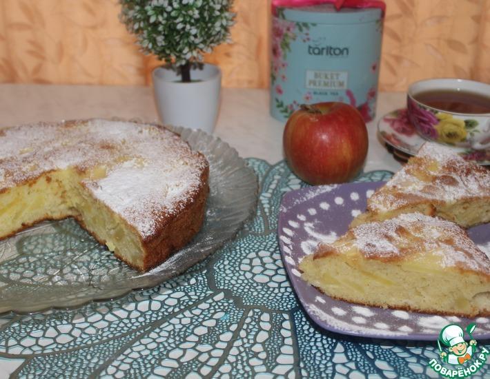 Рецепт: Яблочный пирог на скорую руку