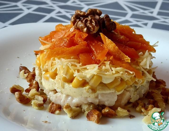 Рецепт: Оранжевый салат с курагой
