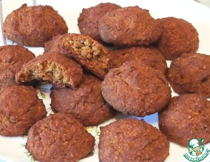 Рецепт: Постное тыквенное печенье