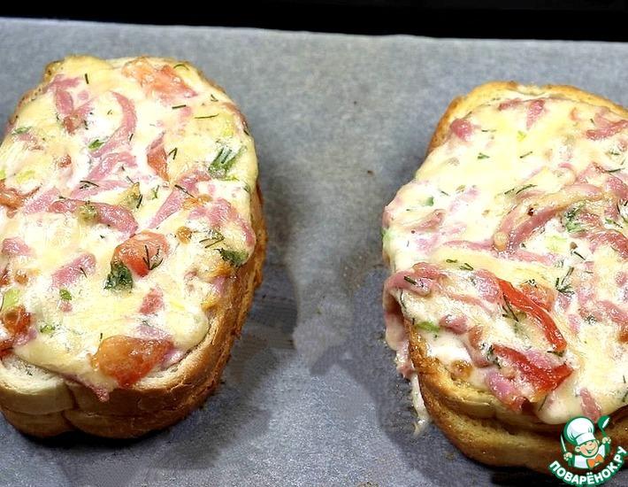 Рецепт: Горячий бутерброд-пицца