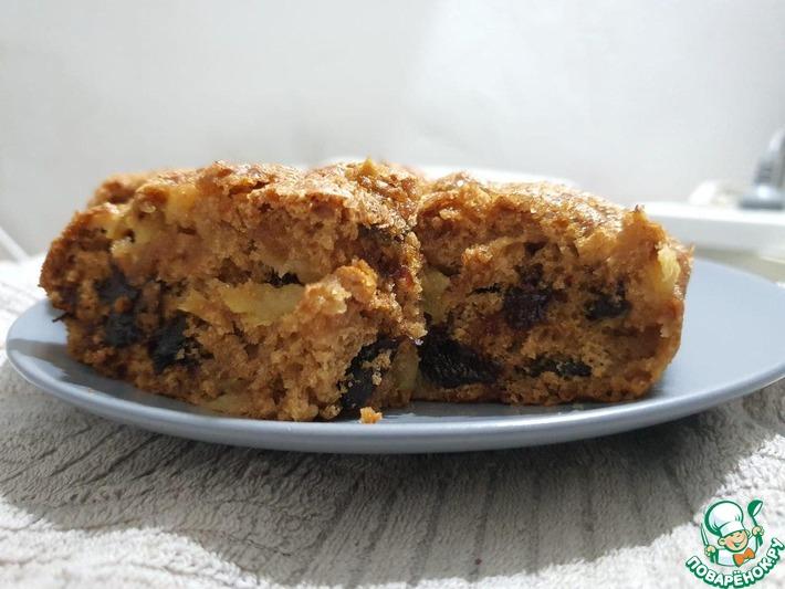 Бидуд-постный пирог с яблоком