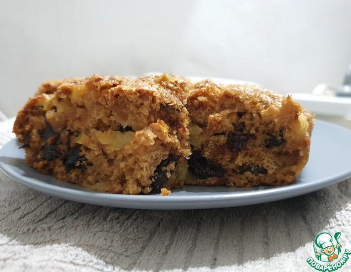Рецепт: Бидуд-постный пирог с яблоком