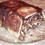 Шоколадно-ореховый торт из печенья – кулинарный рецепт