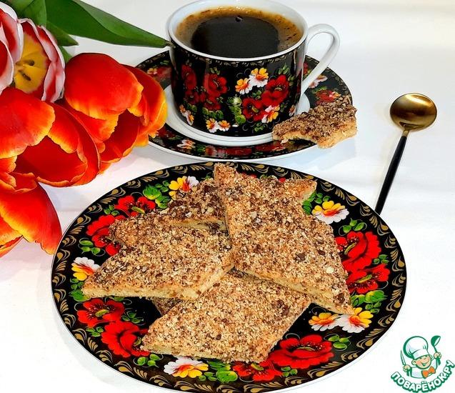 Арахисовое печенье с вафельной посыпкой