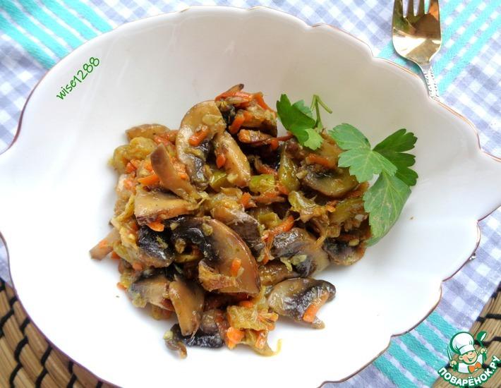 Рецепт: Соте из грибов с кабачком
