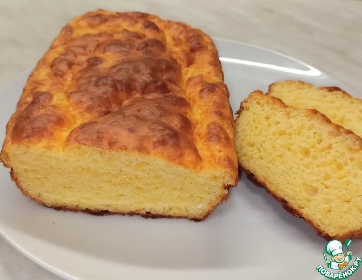 Рецепт: Сырный хлеб без дрожжей