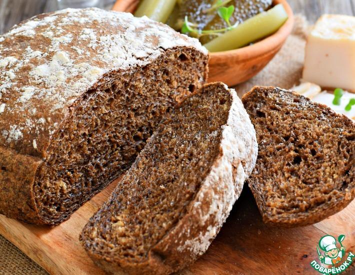 Рецепт: Домашний черный хлеб на солоде