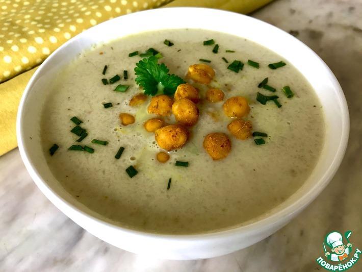 Суп из цветной капусты с нутом