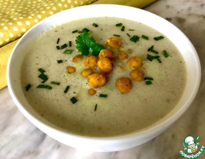 Рецепт: Суп из цветной капусты с нутом