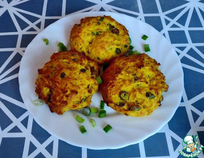 Рецепт: Печенье с зелёным луком