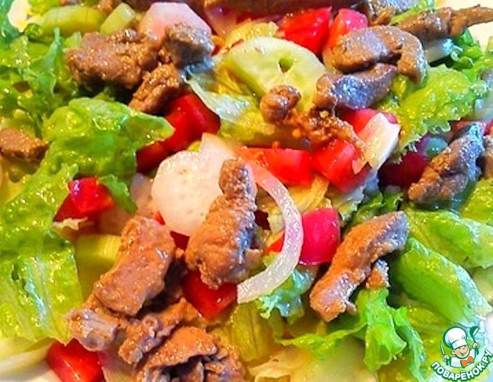 Весенний салат с мясом
