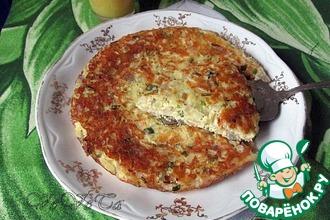 Рецепт: Луковый пирог на сковороде
