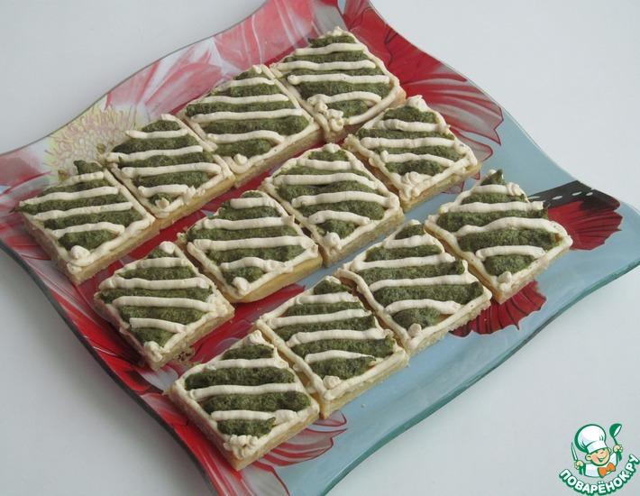 Рецепт: Песочные пирожные с кремом из шпината