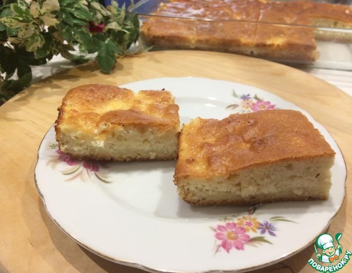 Рецепт: Наливной творожный пирог