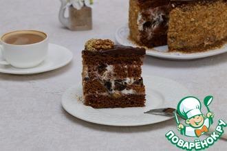 Рецепт: Торт сметанный Орех в черносливе