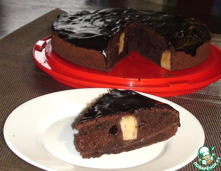 Рецепт: Шоколадный пирог с бананами