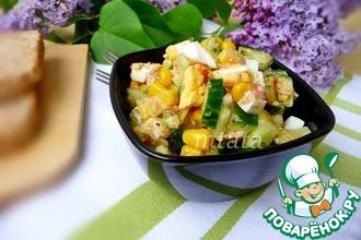 Рецепт: Салат с тунцом и кукурузой