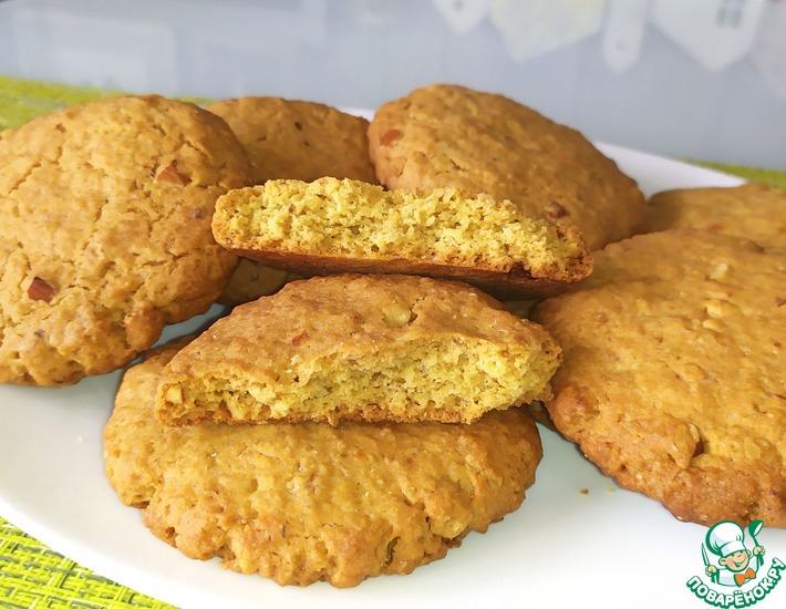Рецепт: Хрустящее овсяное печенье с орехами