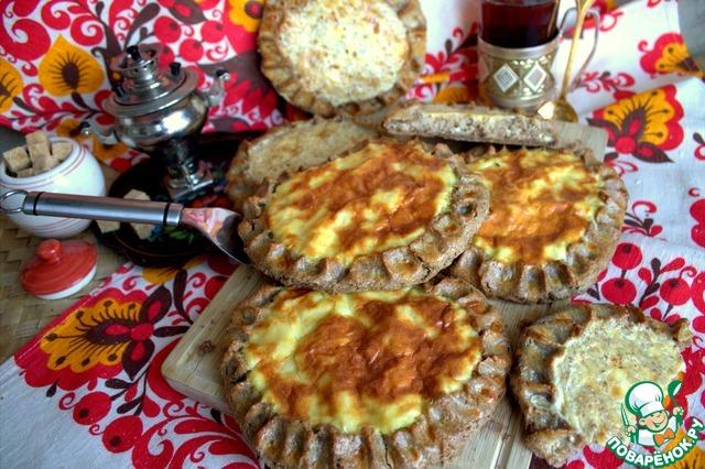 Ржаные шаньги с крупой и картофелем