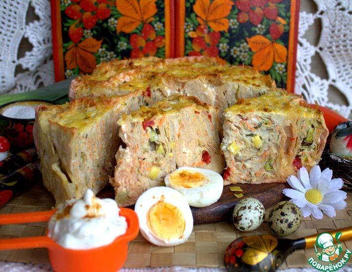 Рецепт: Мясной пирог-запеканка