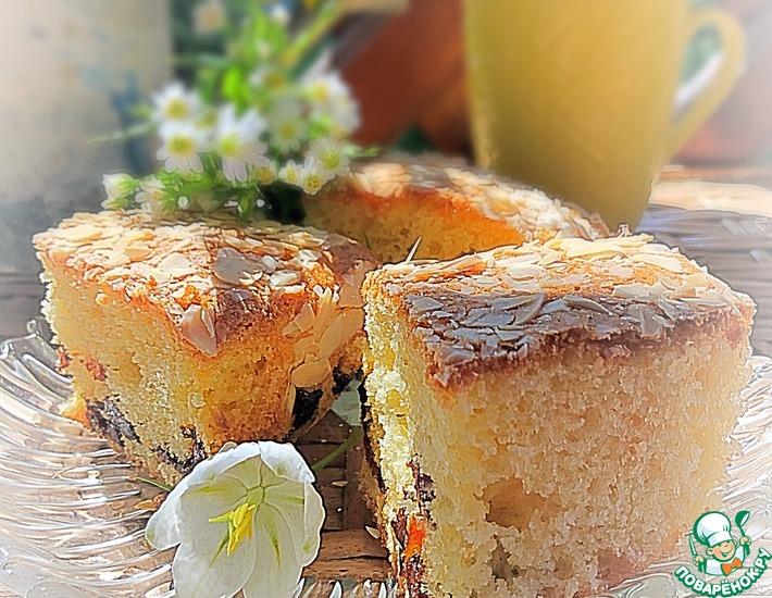 Рецепт: Пирог с черносливом «Домашний»