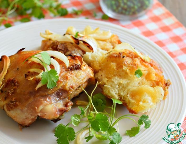 Рецепт: Курица, запеченная с лавашем