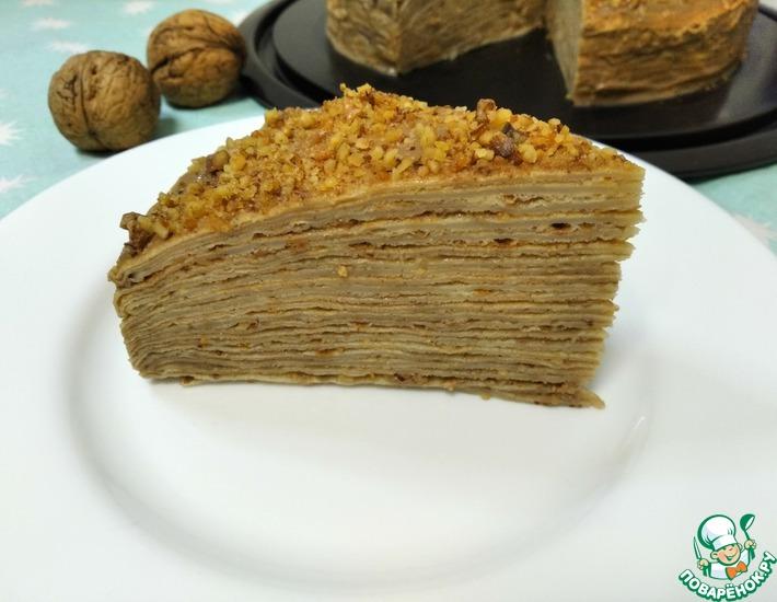 Рецепт: Торт блинный Капучино