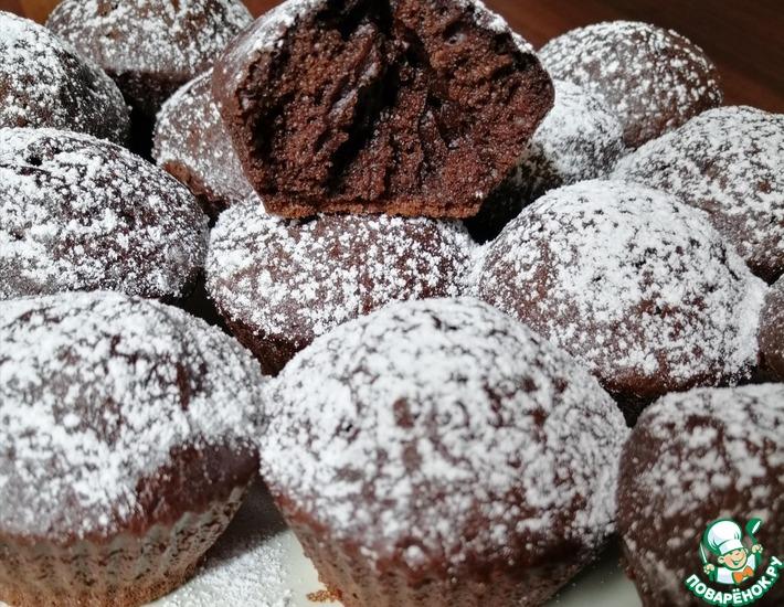 Рецепт: Самые мягкие шоколадные кексы