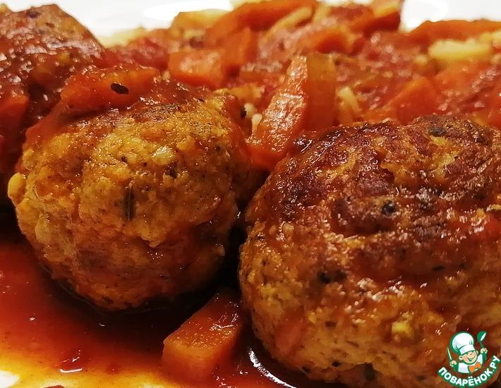 Рецепт: Тефтели из индейки в томатном соусе