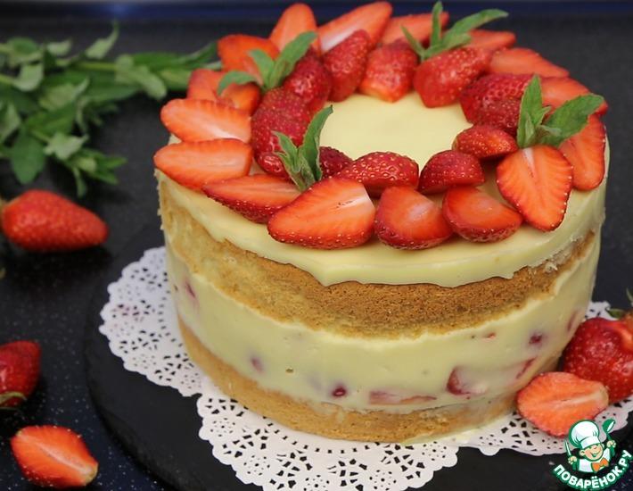 Рецепт: Торт Клубничный Восторг