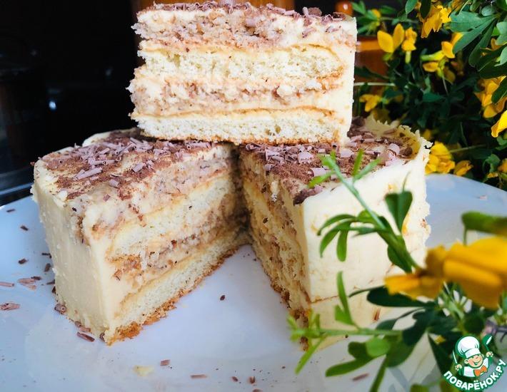 Рецепт: Торт Ореховая нежность