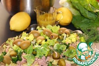 Рецепт: Картофельный салат с соусом винегрет