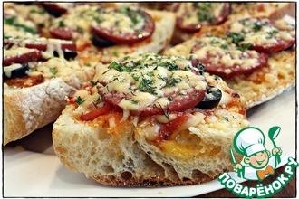 Рецепт: Пицце-бутер за 10 минут