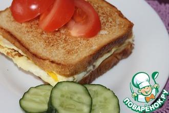 Рецепт: Горячие бутерброды на сковороде