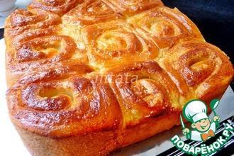 Рецепт: Сливочные булочки улитки