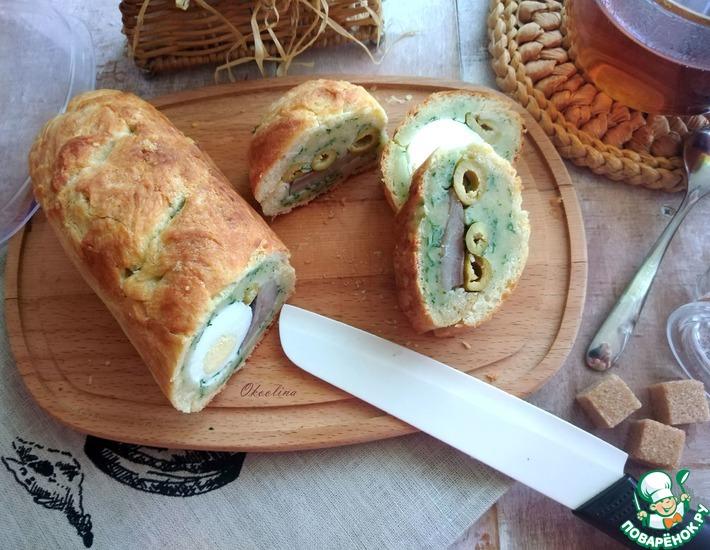 Рецепт: Батон-бутерброд с сельдью