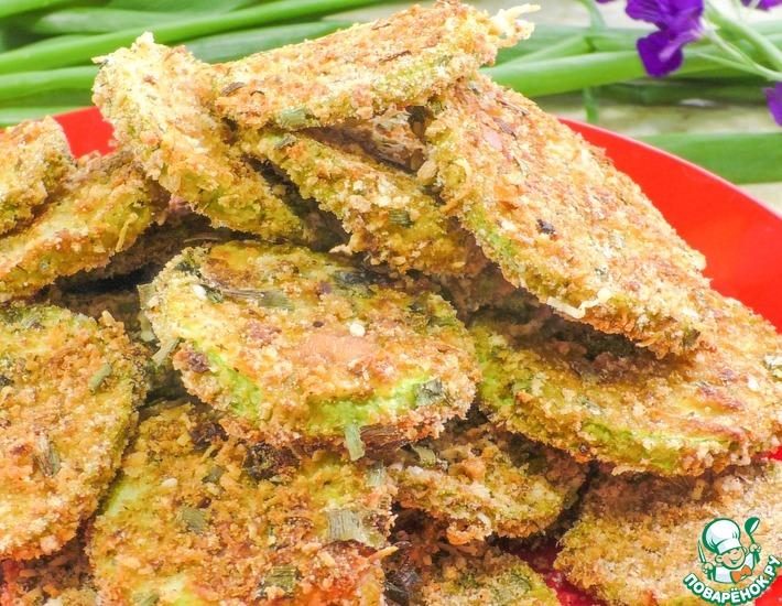 Рецепт: Хрустящие кабачки с сыром в духовке